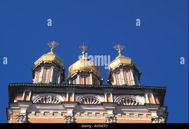 Moscow Russia Trinity Monastery of St Sergei - Stock Image