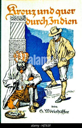 cover of adventure book (german edition), cover von Abenteuerbuch (deutsch) - Stock-Bilder