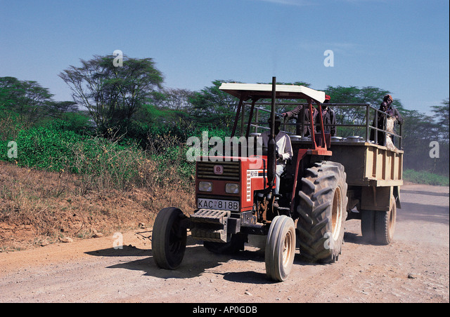Tractor Pulling Trailer : Diesel farm vehicle stock photos
