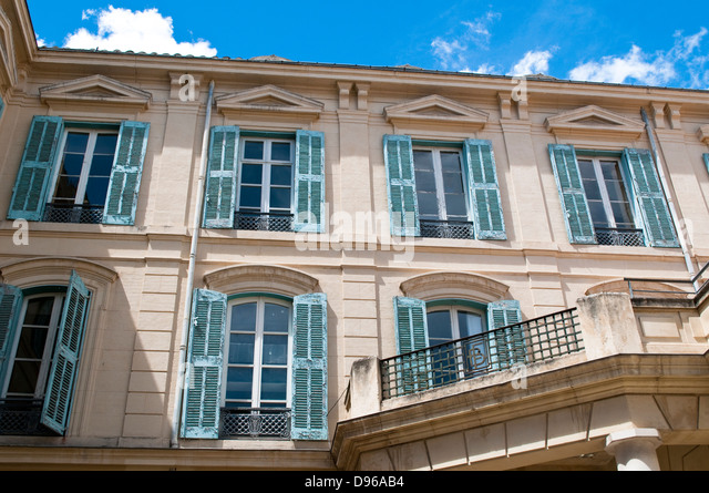 beautiful french shutters stock photos beautiful french shutters stock images alamy. Black Bedroom Furniture Sets. Home Design Ideas