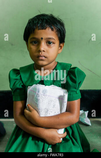 A school girl in SSS (Society for Social Service) Center, Tangail, Dhaka, Bangladesh © Jahangir Alam Onuchcha/Alamy - Stock-Bilder