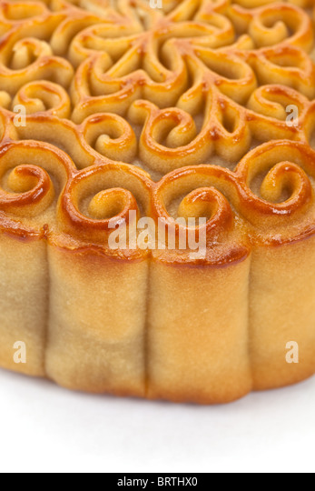 Moon Cake close up, Chinese Culture - Stock Image