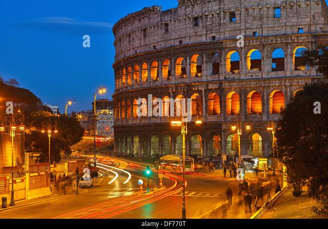 Colosseum at night - Stock-Bilder