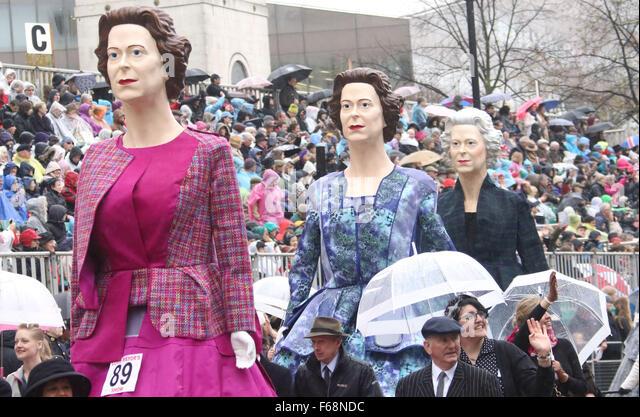 Lord Mayor's Show 2015 London parade 800th anniversary This year, maritime expert Alderman Jeffrey Mountevans - Stock Image
