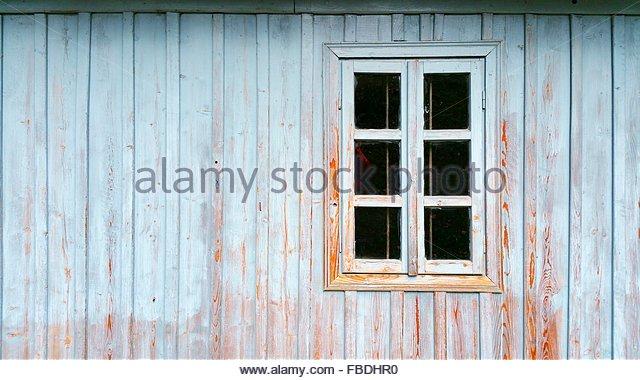 Window On Old Wooden House - Stock-Bilder