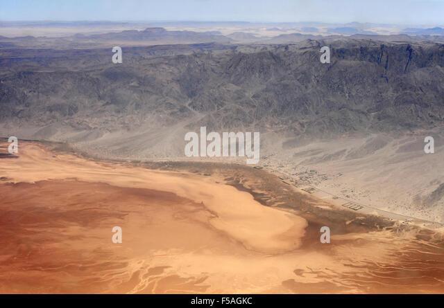Desert in Jordan, aerial view - Stock Image