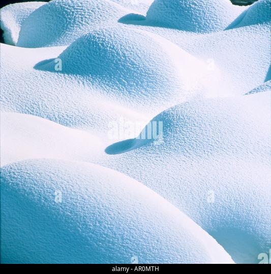 Snow Pillows Lamar Valley Yellowstone Natl Park - Stock Image