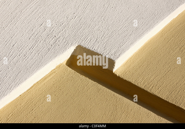 Yellow and white concrete texture - Stock Image