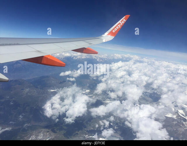 FRENCH ALPS from 30,000 ft. Photo: Tony Gale - Stock-Bilder