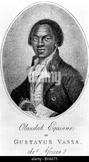 OLAUDAH EQUIANO (c 1745-1797) Born in what is now Nigeria,his autobiography heavily influenced the abolition of - Stock Image