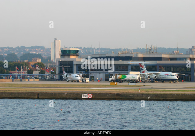 London City Airport, England, UK. - Stock Image