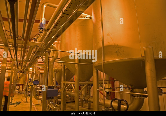Inside Westons cider factory, Much Macle, Herefordshire, South West England. - Stock Image