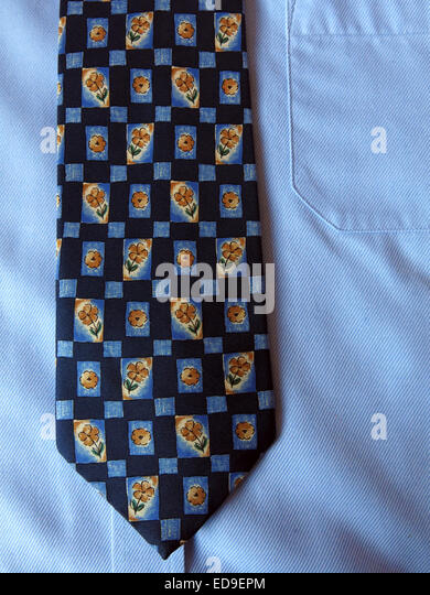 Interesting vintage tie, male neckware in silk - Stock Image