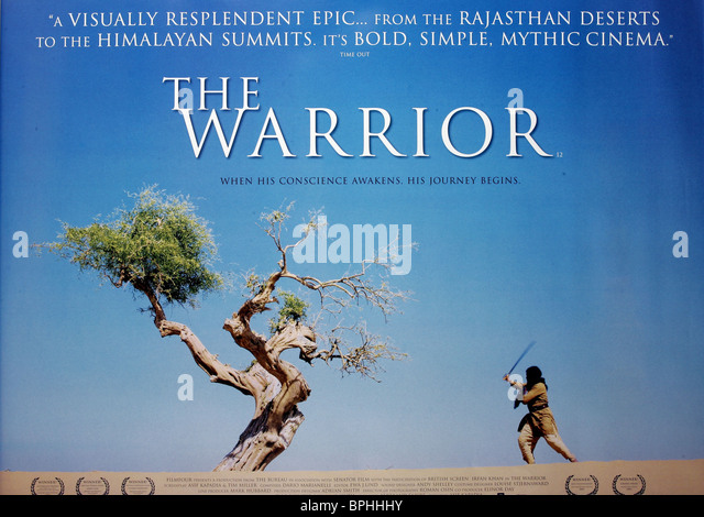 FILM POSTER THE WARRIOR (2001) - Stock-Bilder