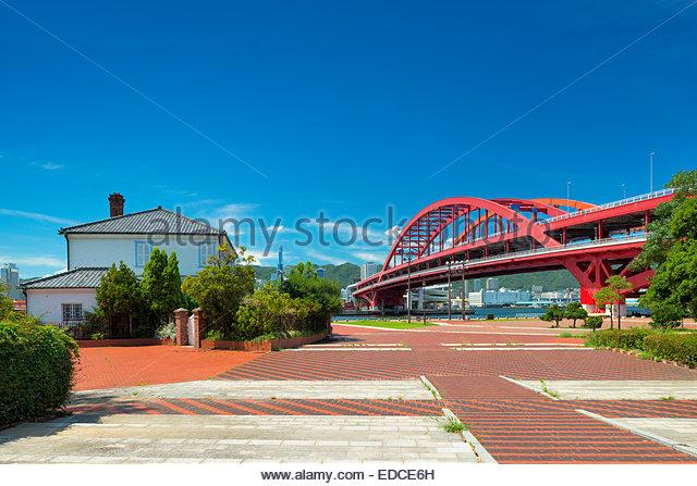 Kobe-Oohashi Bridge, Kobe, Hyogo, Japan - Stock Image