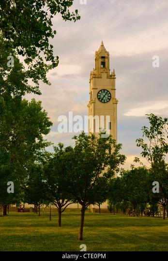 Vieux Montreal Sailors' Memorial Clock Tower Tour de l'Horloge - Stock Image