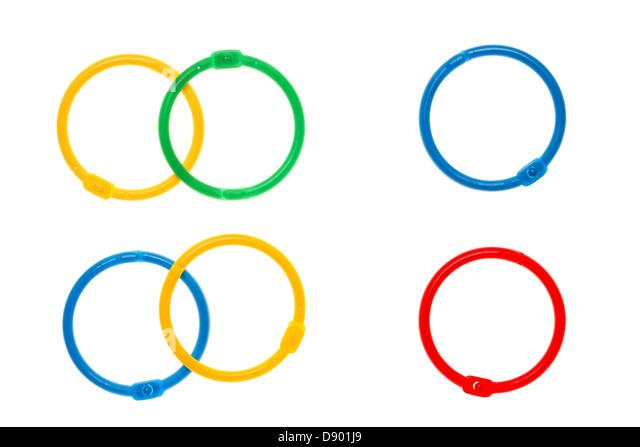 Snow White Plastic Rings