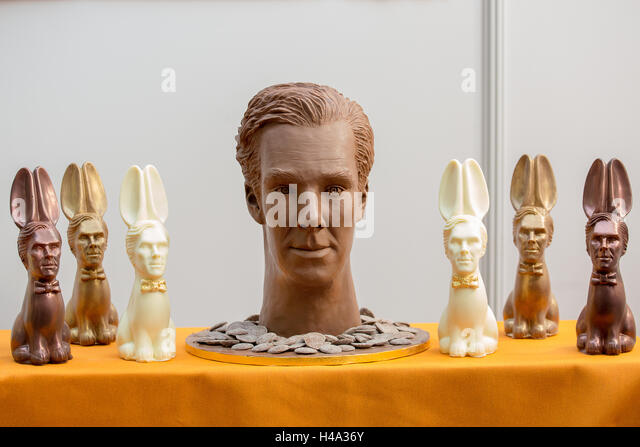 Sculpture of chocolate.The Chocolate Show takes place at Olympia London, UK  from 14th-16th October 2016, as the - Stock Image