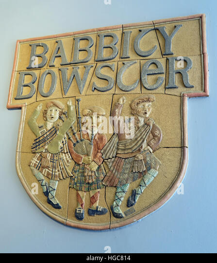 The Babbity Bowster Tavern, 16-18 Blackfriars St, Glasgow G1 1PE - Stock Image