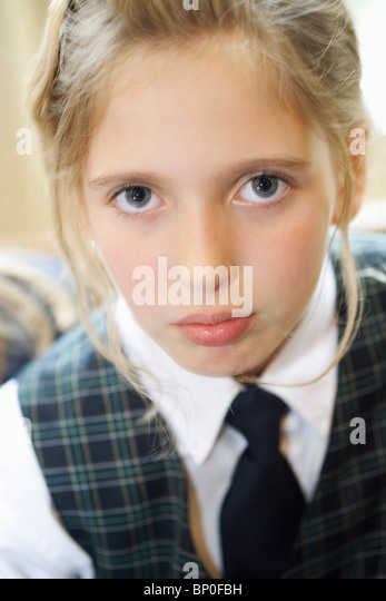 Canada, Québec, Montreal, private school, portrait of girl - Stock Image