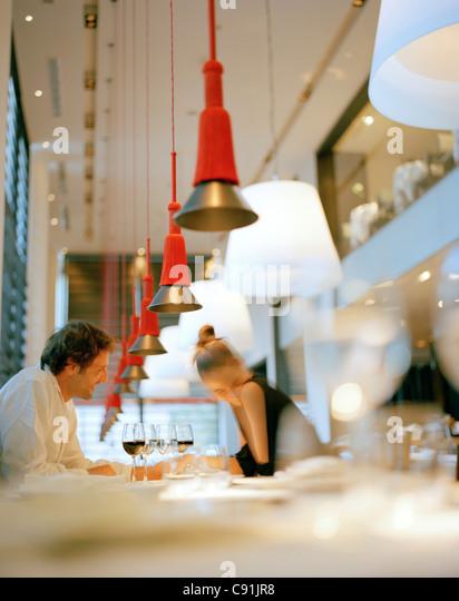 Restaurant Lagrimas Negras, Hotel Silken Puerta America, Madrid, Spain - Stock Image
