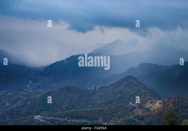 the Kaweah Valley, Sequoia National Park, California, USA - Stock Image