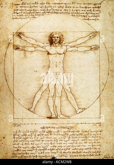 a depiction of the vitruvian man a picture in pen and ink by leonardo da vinci The vitruvian man (italian: le proporzioni del corpo umano secondo vitruvio, which is translated to the proportions of the human body according to vitruvius), or simply l'uomo vitruviano (italian pronunciation: [ˈlwɔːmo vitruˈvjaːno]), is a drawing by leonardo da vinci around 1490 it is .