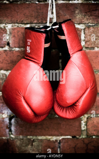 VItage boxing gloves - Stock Image