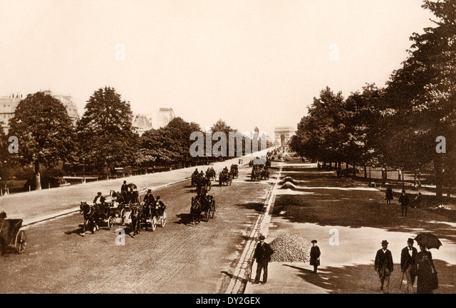 Avenue du Bois de Boulogne, Paris, circa 1900. - Stock-Bilder