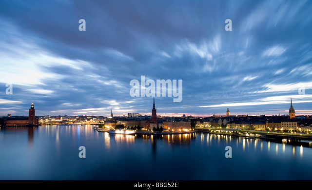 Skyline of Stockholm - Stock Image