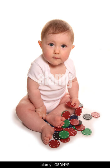 Gambling with our childrens future cutout - Stock Image