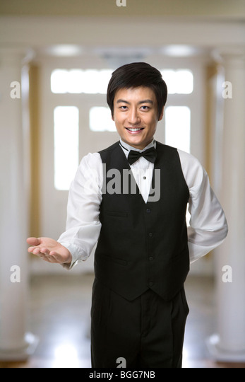 Smiling Service Staff - Stock Image