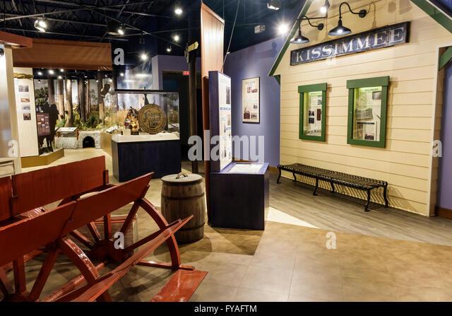 Kissimmee Orlando Florida Orlando Osceola County Welcome Center centre History Museum inside exhibit - Stock Image