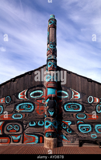 Alaska Haines Chilkat Tribal House - Stock Image