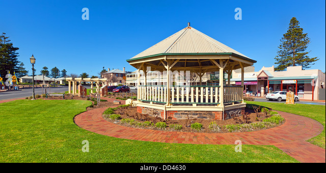 Goolwa is a township based at the mouth of the Murray River on the Fleurieu Peninsula in South Australia - Stock-Bilder