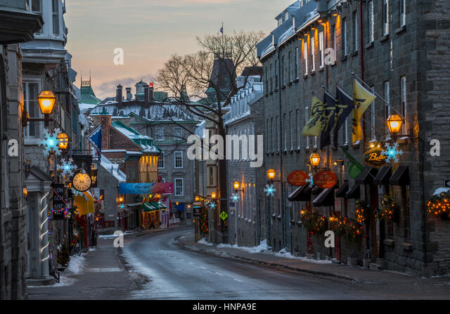 Quebec city old town christmas stock photos quebec city for Decoration quebec