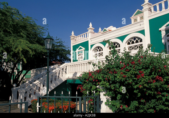 Aruba Oranjestad Historic House Dr Elroy Arends - Stock Image