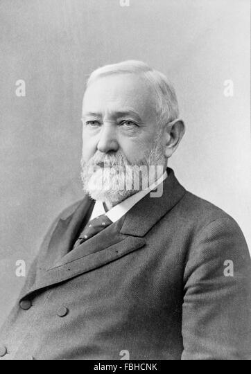 Benjamin Harrison, portrait of the 23rd US President, c.1896 - Stock Image