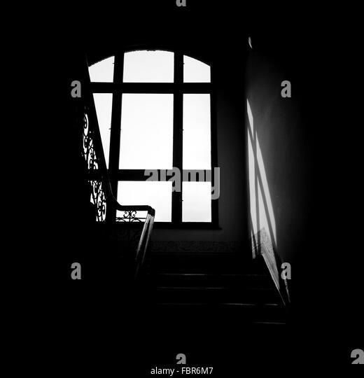 Staircase Against Window - Stock-Bilder