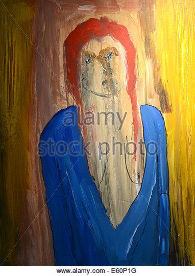 Nice Large scale figurative original painting On Canvas - Stock-Bilder