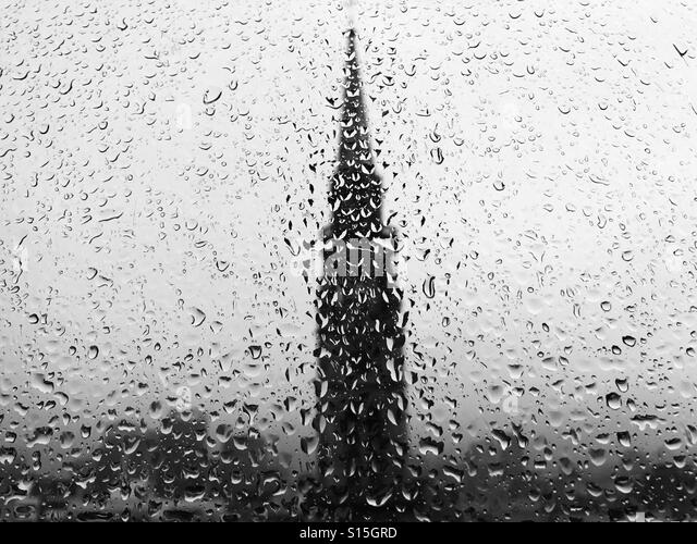 Rain window - Stock-Bilder