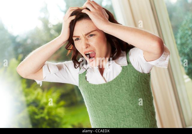 Annoyed girl - Stock Image