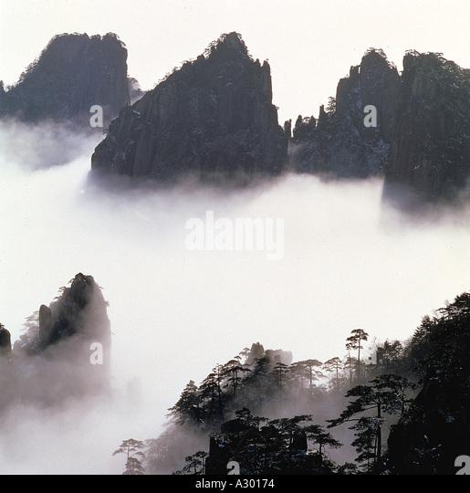 Huang Shan An Hui China - Stock Image