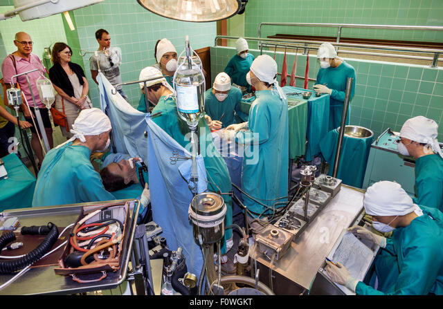 Cape Town South Africa African Salt River Groote Schuur Hospital Heart of Cape Town Museum operating room re-enactment - Stock Image