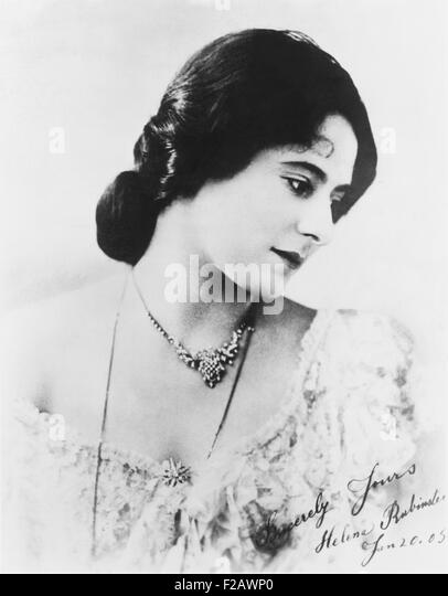 Madame Helena Rubenstein, autographed photograph. Dated January 20, 1905, when she was at the height of her early - Stock-Bilder