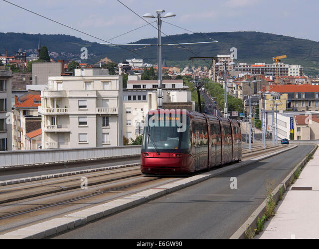 tramway de clermont ferrand stock photos tramway de. Black Bedroom Furniture Sets. Home Design Ideas