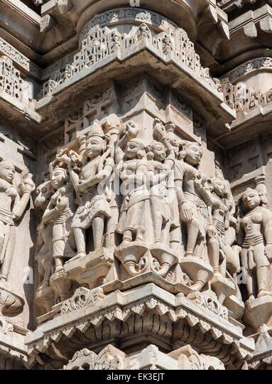 Jagdish temple carving udaipur stock photos