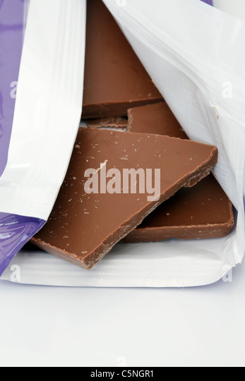 Bar of chocolate - Stock Image