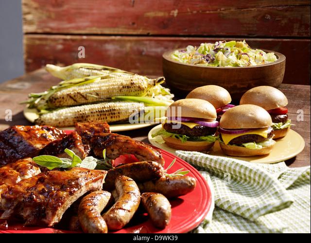 American BBQ - Stock-Bilder