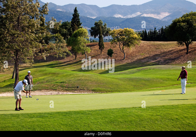 Guadalhorce Golf Course Malaga Andalusia Spain Campo de Golf Guadalhorce Málaga Andalucia España - Stock Image